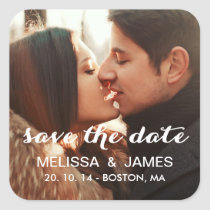 Bold Script | Photo Save the Date Sticker