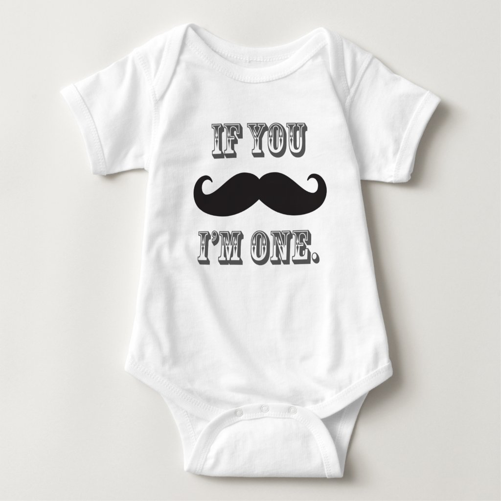 Boy's Moustache Little Man First Birthday Tee