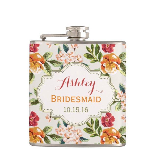 Bride Bridesmaid Classy Vintage Floral Wedding
