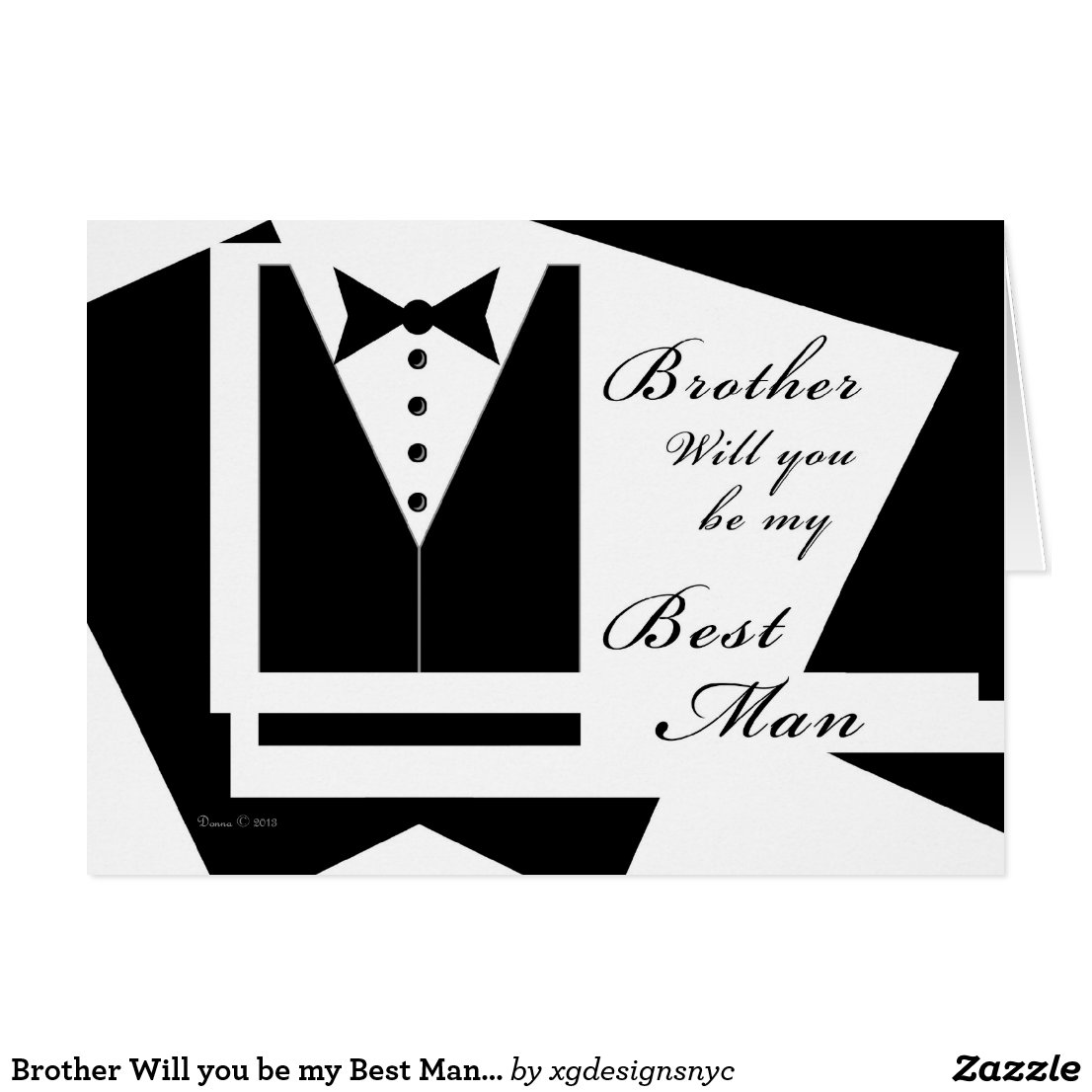 Brother Will you be my Best Man Card
