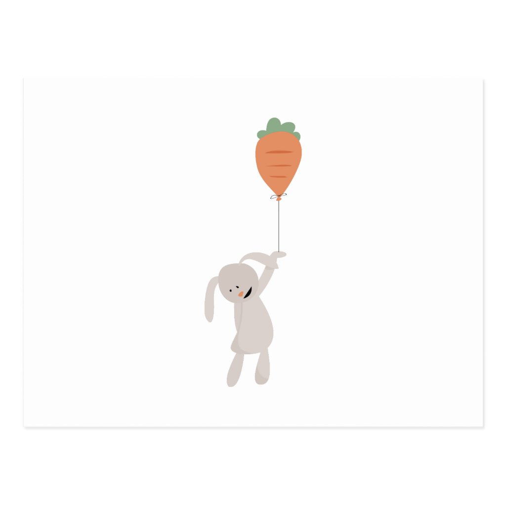 Carrot Balloon Postcard