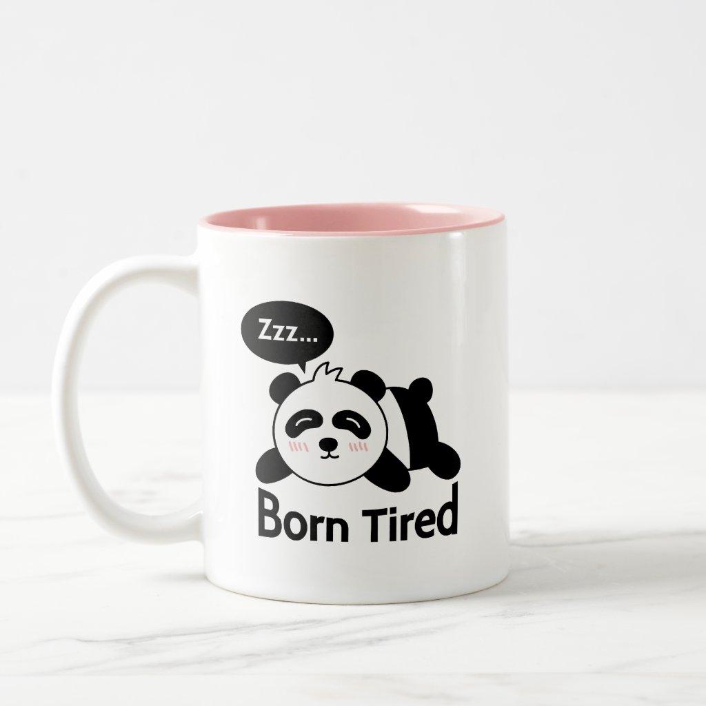 Cartoon of Cute Sleeping Panda