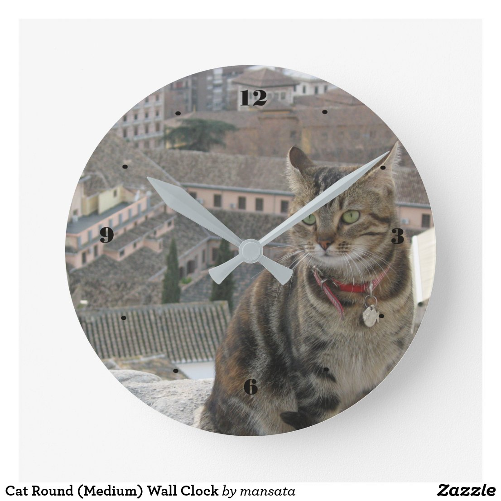 Cat Round Wall Clock