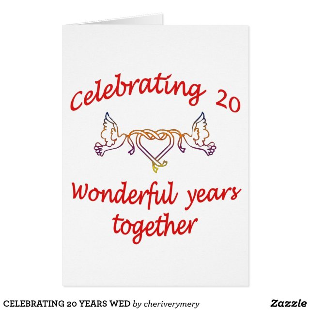 CELEBRATING 20 YEARS CARD