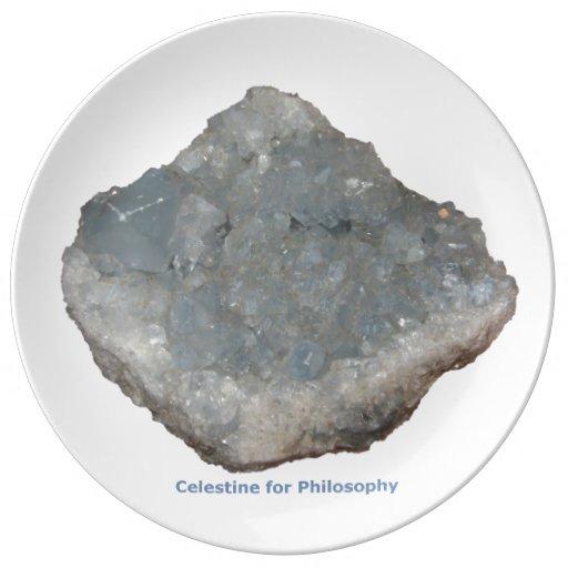 Celestine for Philosophy Porcelain Plate