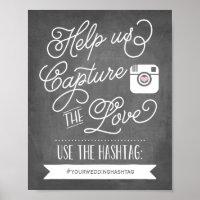Chalkboard Social Media Hashtag Poster
