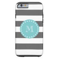 Striped Monogram iPhone Case