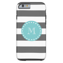 Striped Monogram iPhone Case