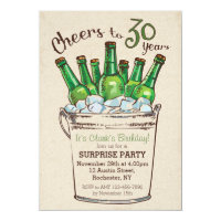 Cheers to 30 years Birthday Invitation