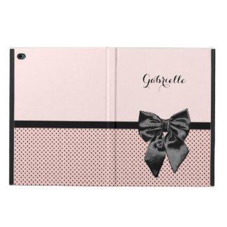 Chic Parisian Pink Polka Dots iPad Case