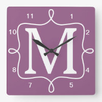 Monogram Wall Clock