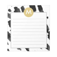 Gold Monogram Note Pads
