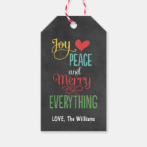 Christmas Gift Tags | Chalkboard Design Pack Of Gift Tags