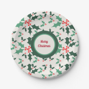 Christmas ornaments tree paper plate