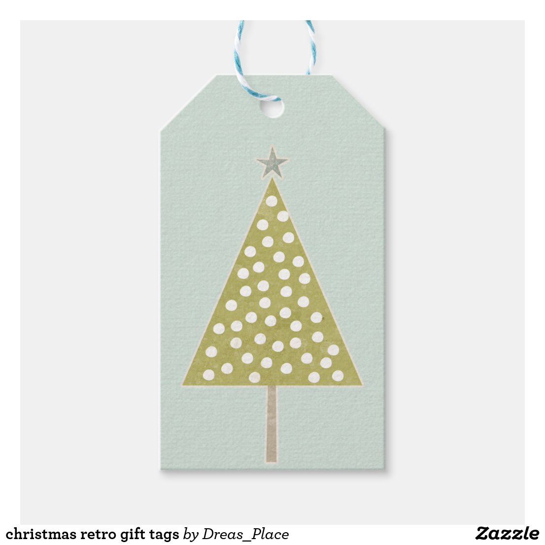 christmas retro gift tags