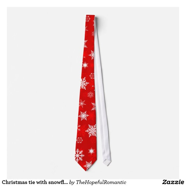 Christmas tie with snowflakes