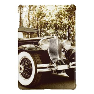 Classic Vintage Sepia Car Case For The iPad Mini