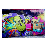 Colorful Graffiti Art Poster