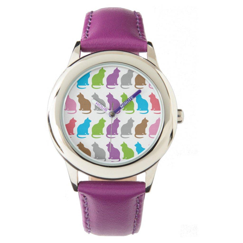 Cat Pattern Watch