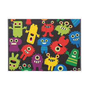 Colourful Crazy Fun Monsters Creatures Pattern iPad Mini Case