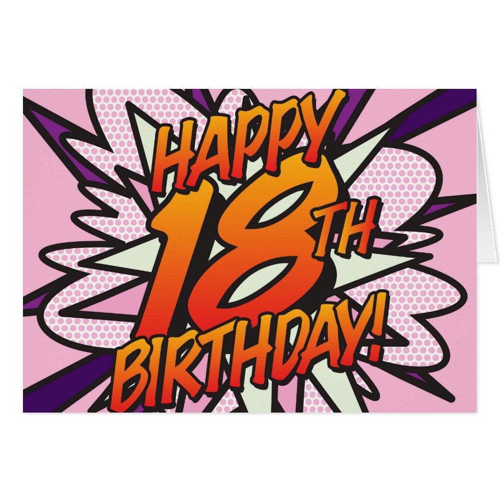 Comic Book HAPPY 18TH BIRTHDAY! Card