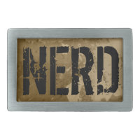 Cool belt buckles with funny text | Vintage nerd