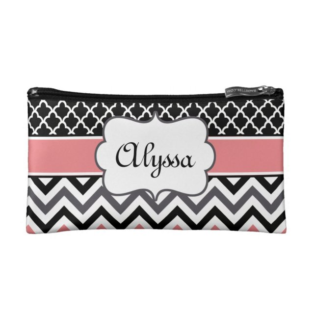 Chevron Personalised Cosmetic Bag