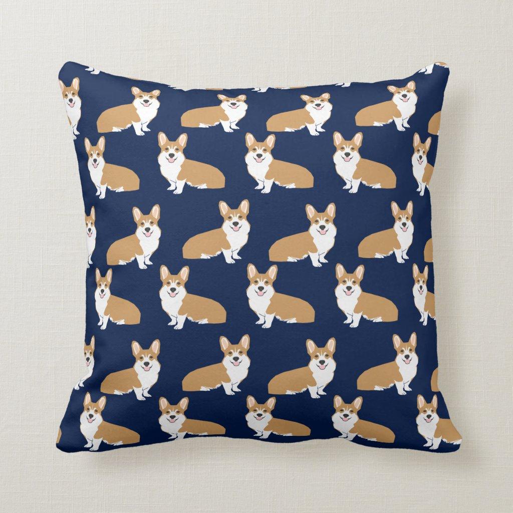 Corgi Pattern Pillow