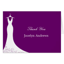 Couture Gown Thank You Cards (Purple)