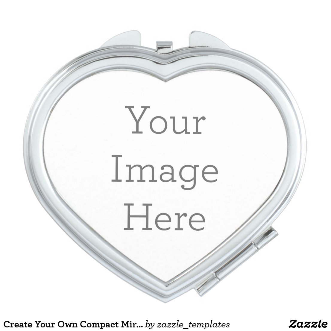 Create Your Own Heart Compact Mirror