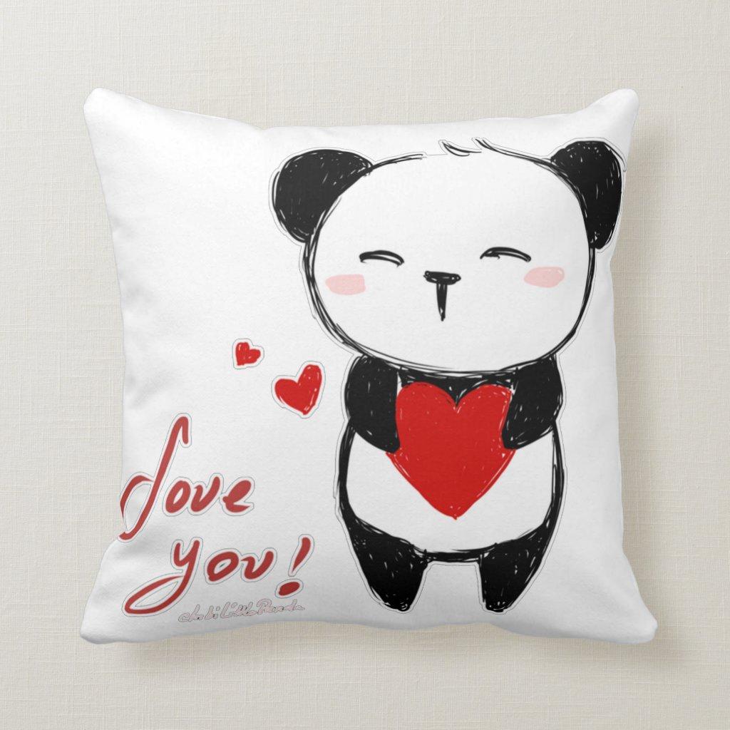 Love You Panda Cushion