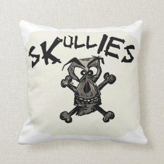 Cushion With Skullies design Throw Pillow