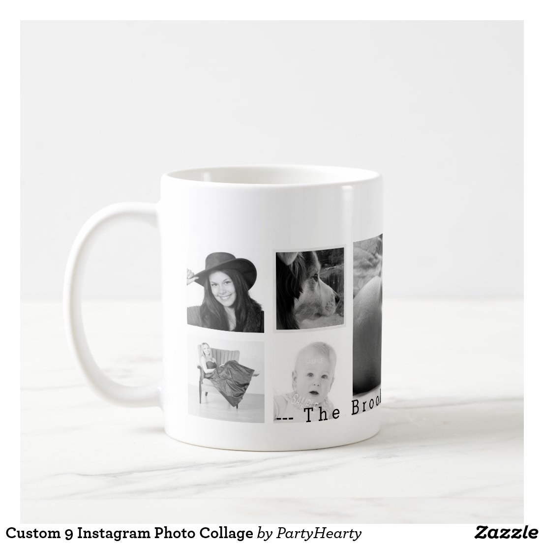 Custom 9 Instagram Photo Collage Mug