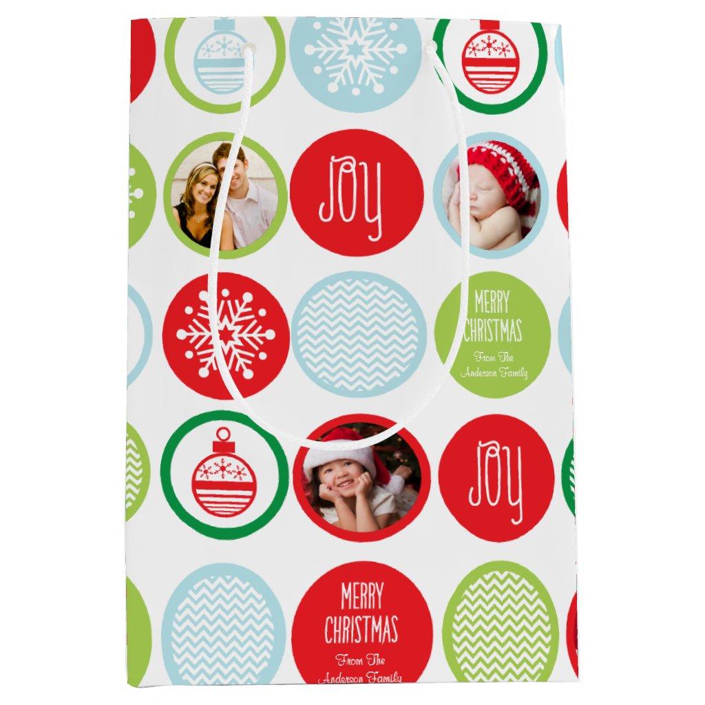 Custom Christmas Photo Dots