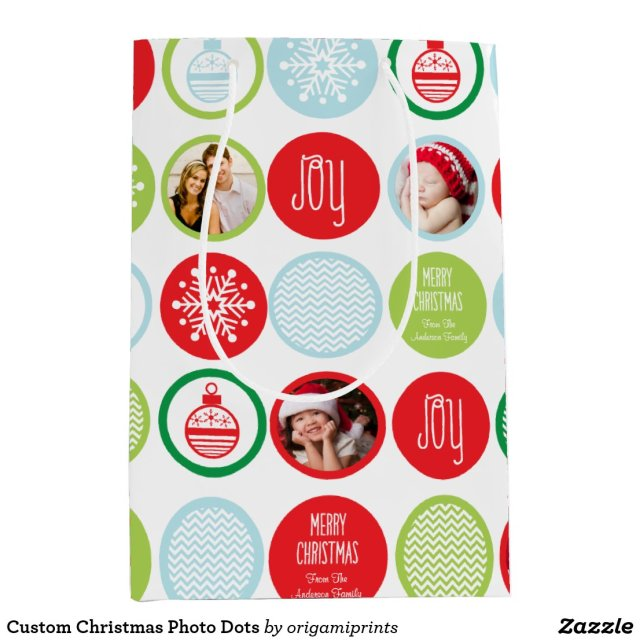 Custom Christmas Photo Dots
