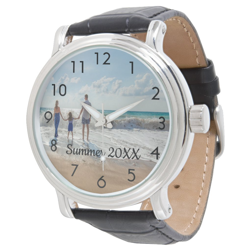 Custom family photo with text watch