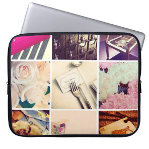 Custom Instagram Photo Collage Laptop Sleeve