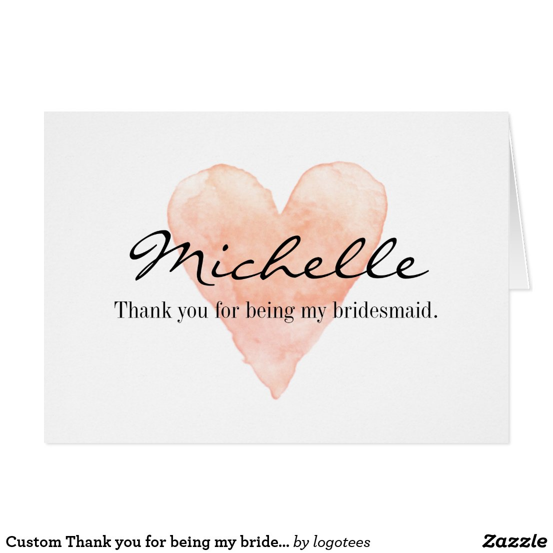 Custom Thank you for being my bridesmaid cards