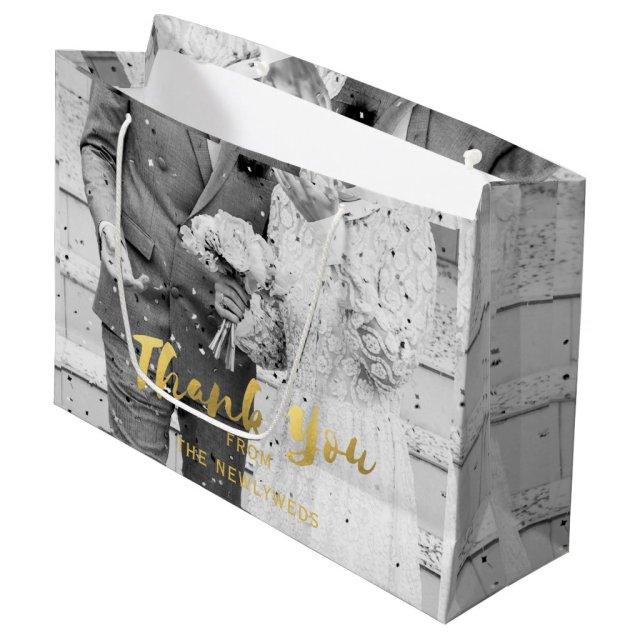 Custom Wedding Photo Thank You Gift Bag
