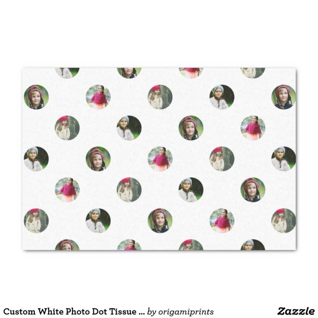 Custom White Photo Dot Tissue Paper