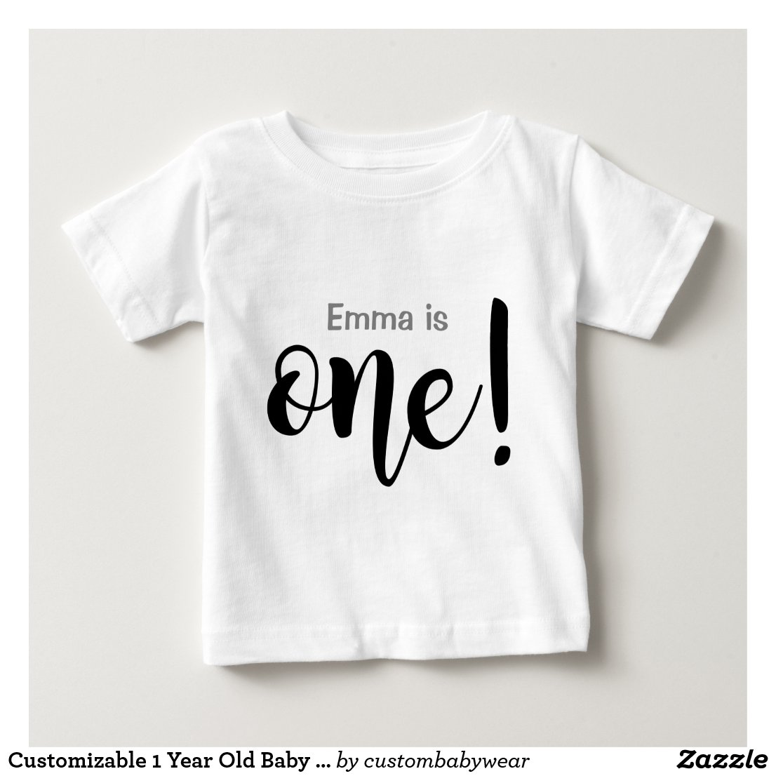 Customisable 1 Year Old T-shirt