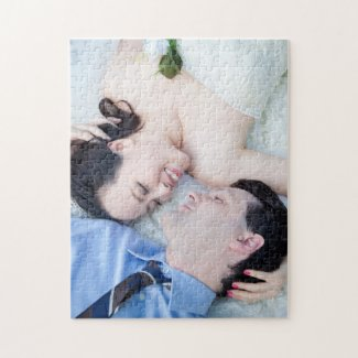 Customised Wedding Portrait Photo Jigsaw Puzzle