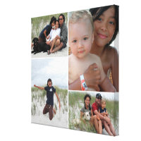 Family Photo Collage Canvas Print