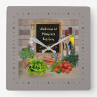 Kitchen Clock with your Name