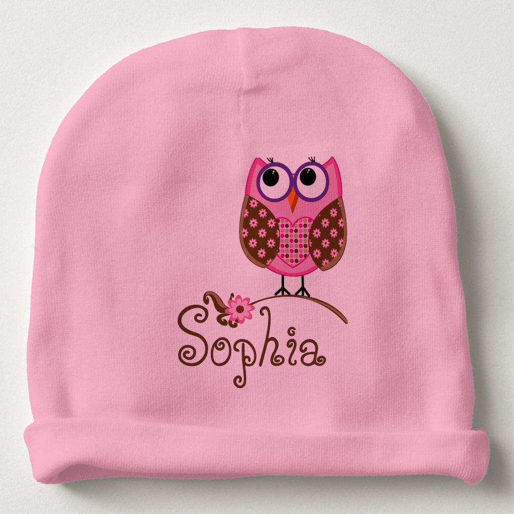 Personalised Owl Beanie