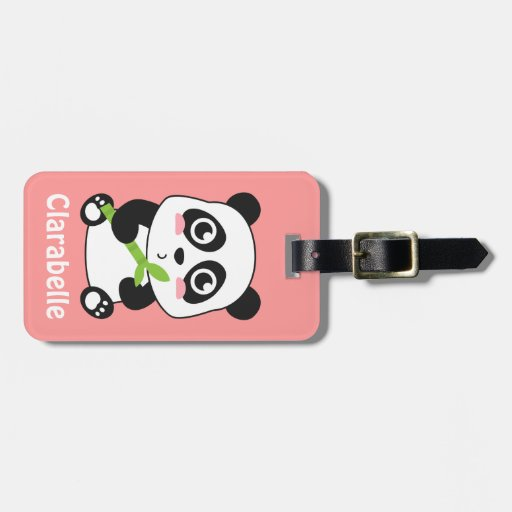 Cute and Cuddly Baby Panda Luggage Tag