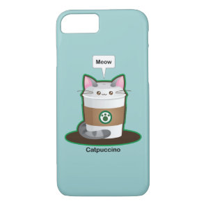 Cute Cat Coffee iPhone 8/7 Case