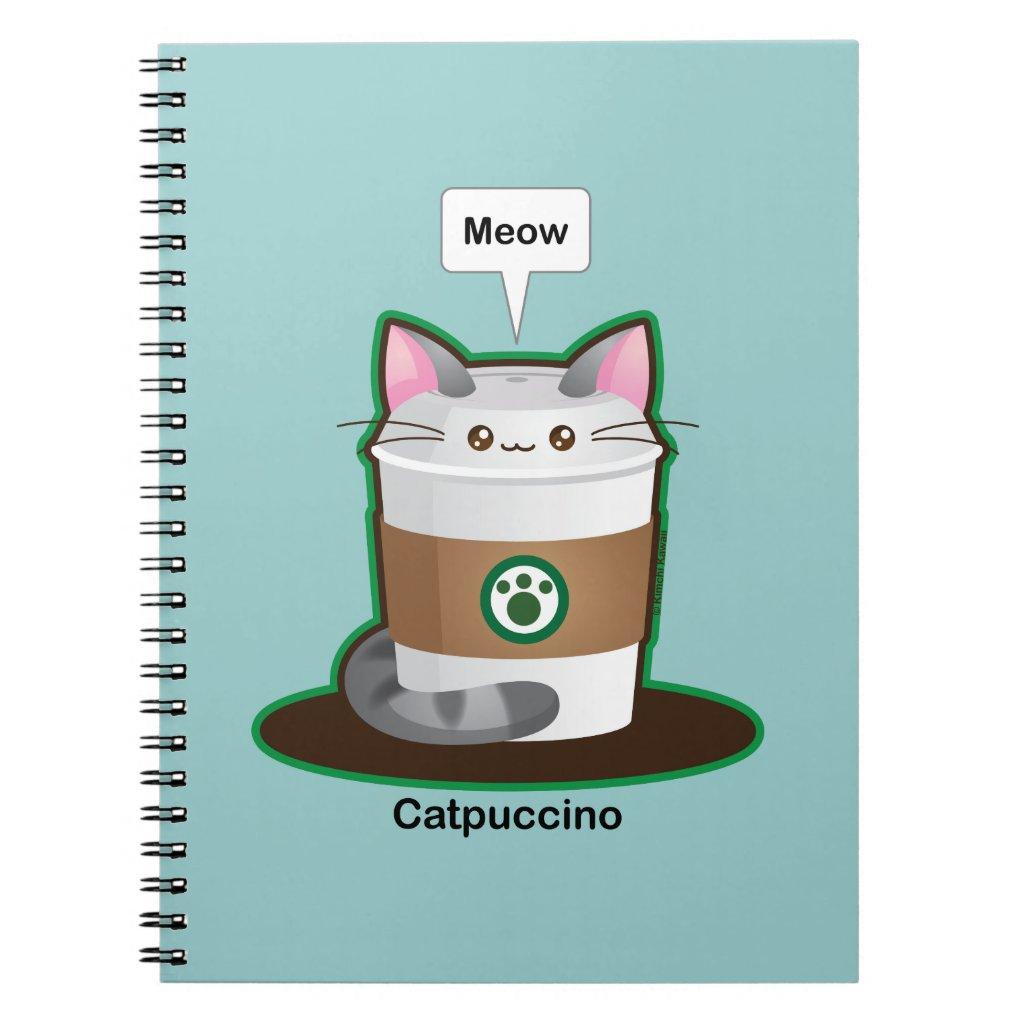 Cute Cat Coffee Notebook