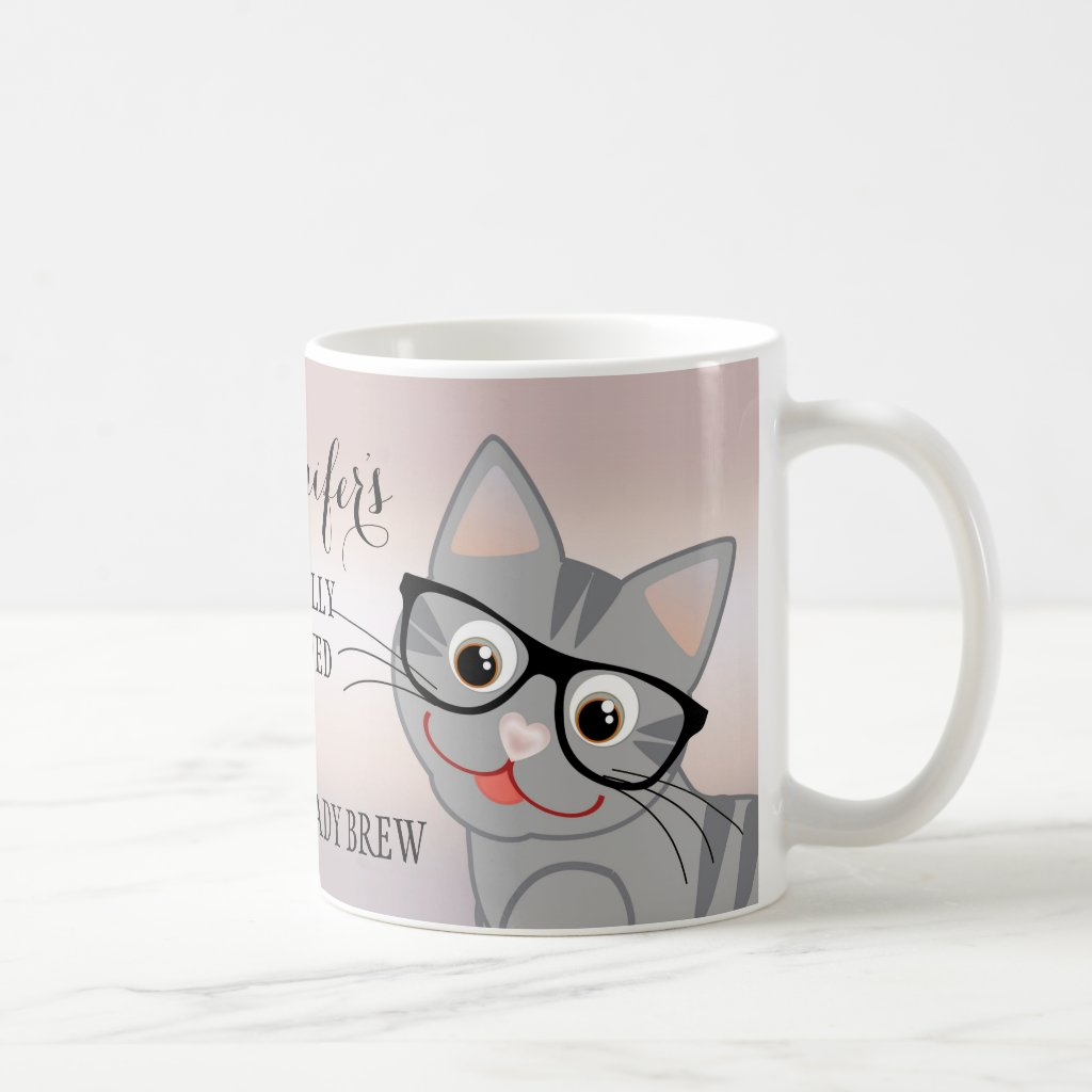 Cute Crazy Cat Lady Personalised Mug