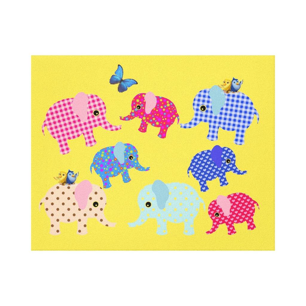ELEPHANTS KIDS CANVAS